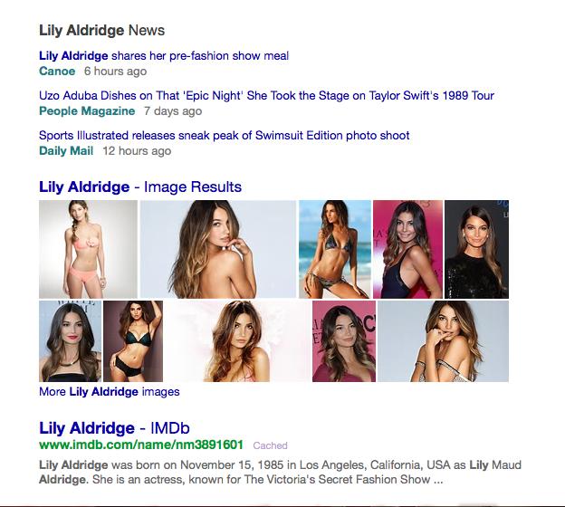 Lily Aldridge Lingerie