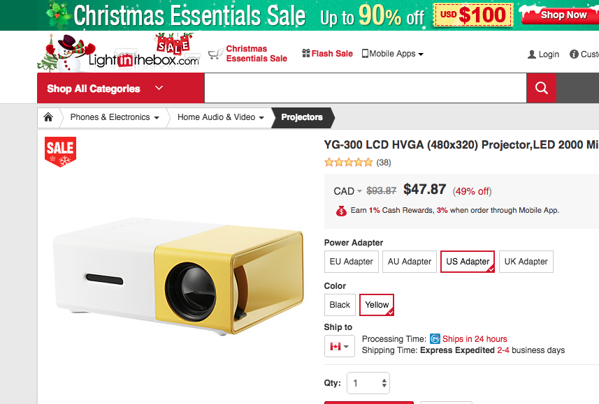 Bluetooth Projector On Sale