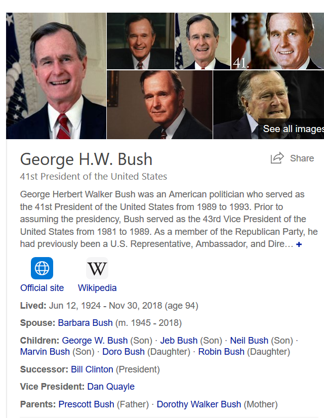 Rest In Peace George W. Bush Sr.  #tribute