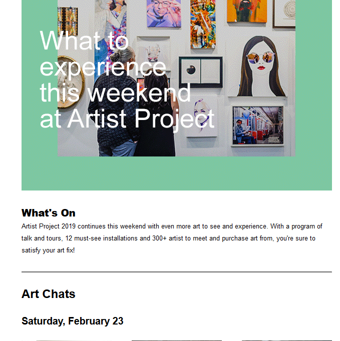 Arts Walk Toronto #artistproject Feb. 21 – 24 #betterliving