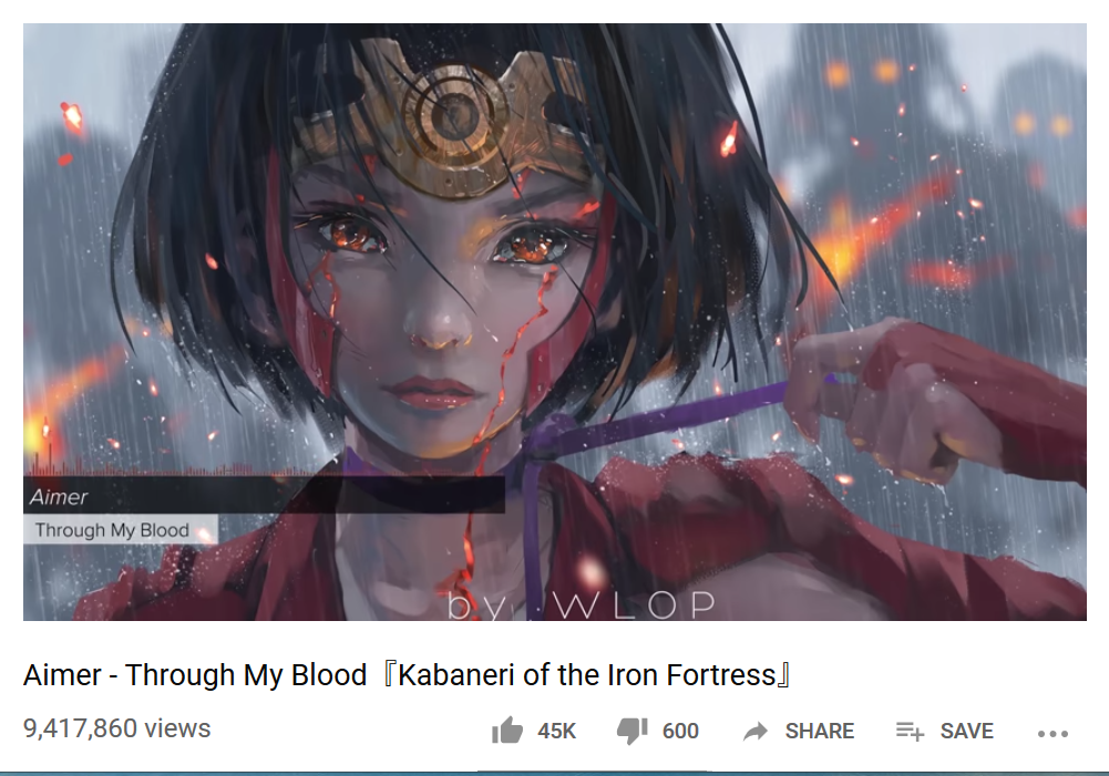 Through My Blood from the Kabaneri of the Iron Fortress #kobayashi